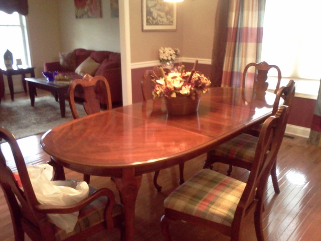 Living / Dining by DeniseGiannaDesigns traditional-dining-room