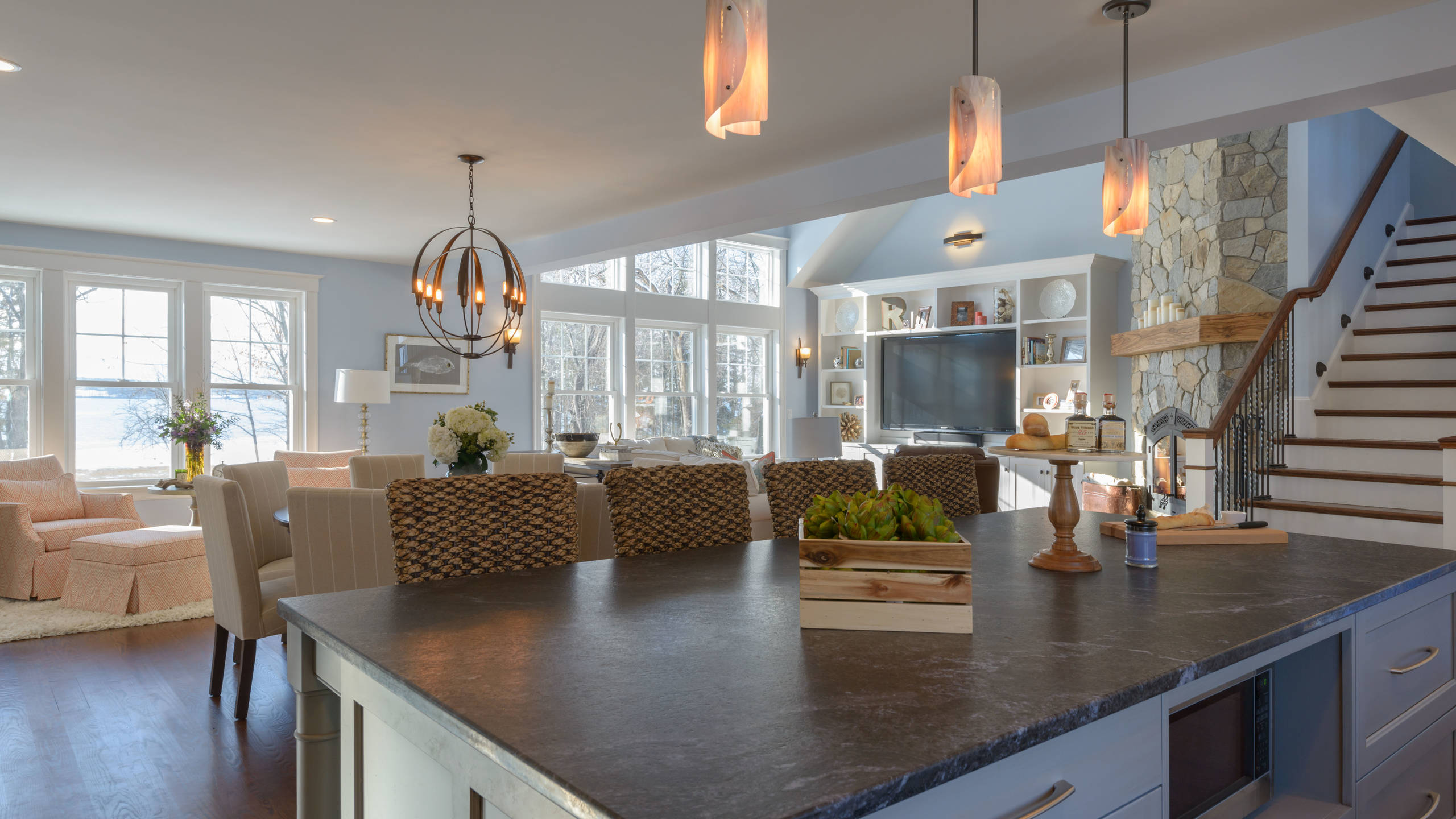 Living, Dining, Sitting rooms and Patio - Newington, NH