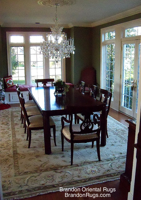 Living Room Dining Room Oriental Rug Combination For Newtown Pa Home Traditional Dining
