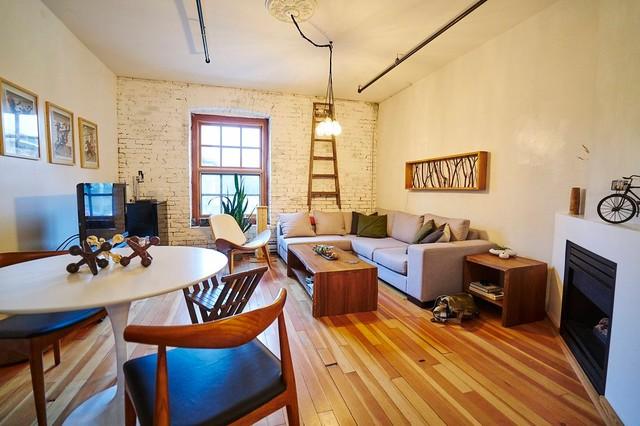 Living Room Mid Century Modern Industrial Design Midcentury Dining
