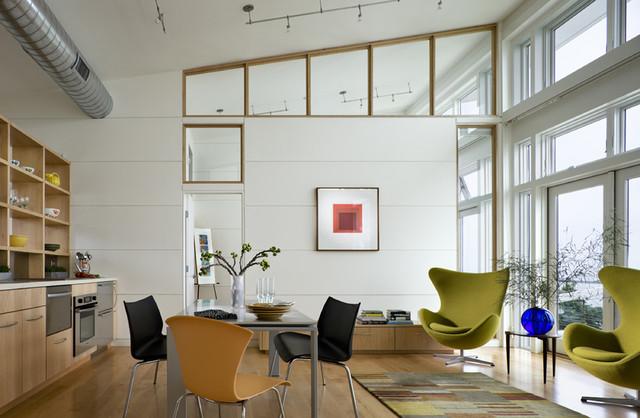 LIving space Modern Dining Room Bridgeport by Arbonies King