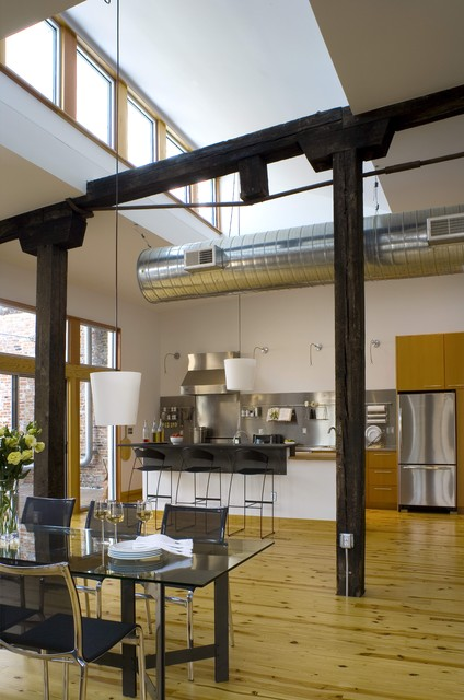 Loft Apartment Kitchen Industrial Dining Room St