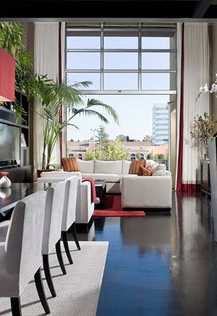 loft modern dining room orange county by christopher james