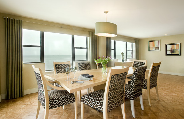 Loft Condo on the Water contemporary-dining-room
