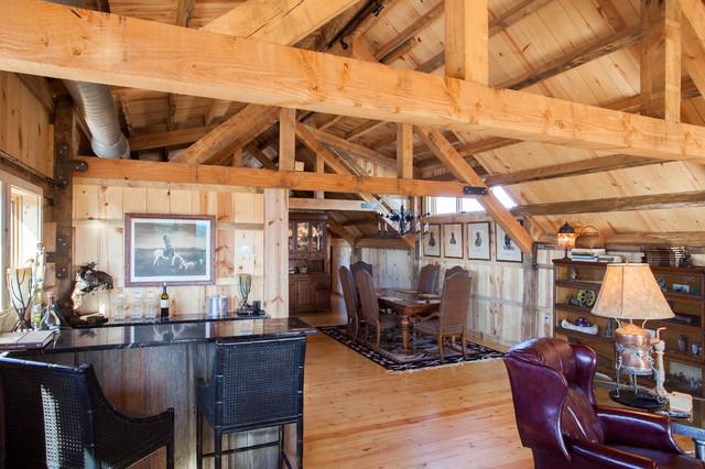 Loft Living In A Nebraska Barn Home Traditional Dining