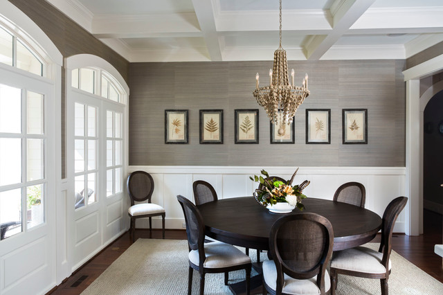 Loftus design transitional dining room charlotte for Dining room design questions