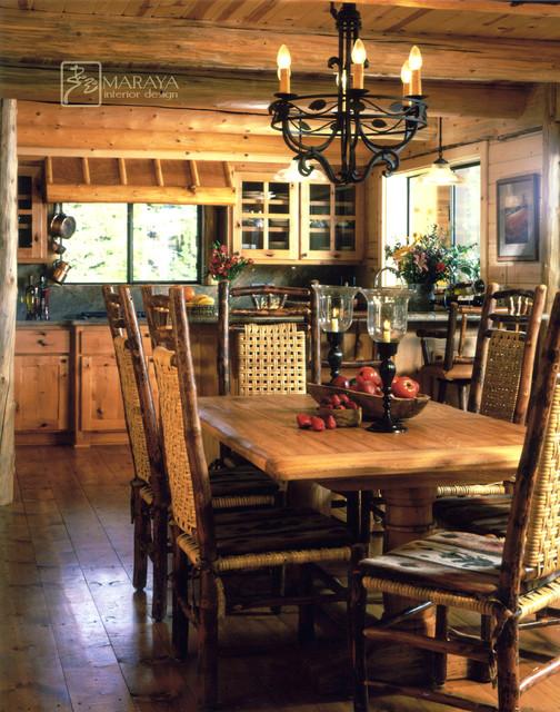 Log Cabin Kitchen Rustic Dining Room