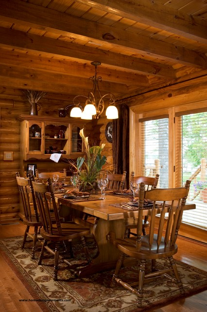 log home caldwell traditional dining room other