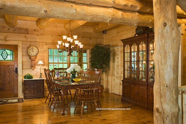 log home edenfield traditional dining room other