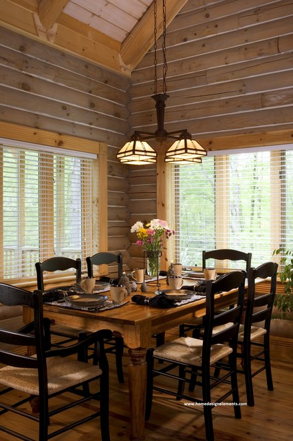 log home lavely traditional dining room other