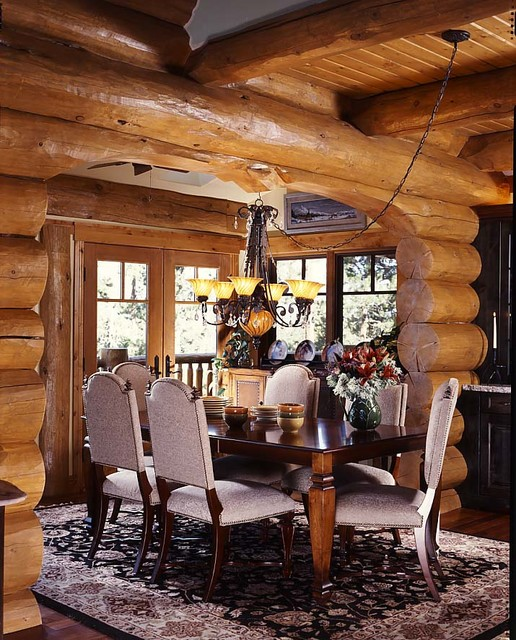 Log home living magazine feature home 2009 rustic for Log home magazines