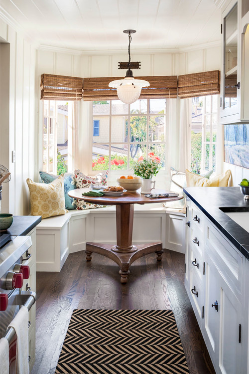 Tour a charming beach cottage town country living for Small dining room ideas houzz