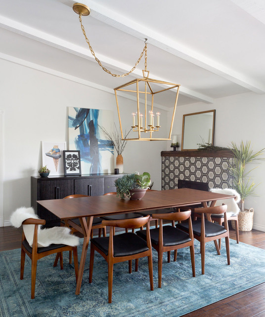 Modern Traditional Dining Room: Long Beach Midcentury Modern