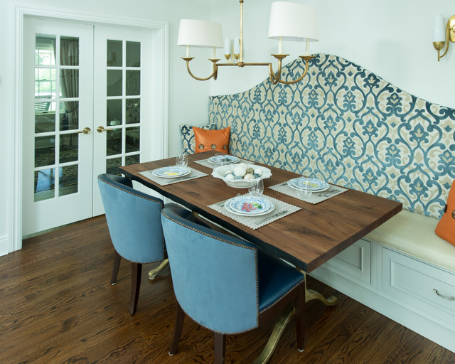 Long Island Home transitional-dining-room