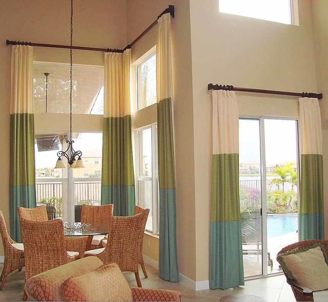 Lori jill custom window treatment photos for Modern dining room window treatments