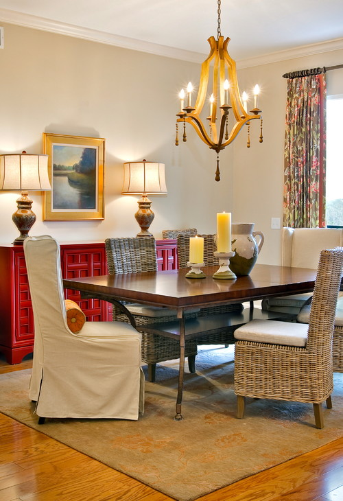 Interior styles and design decorating with elegant for Traditional red dining room