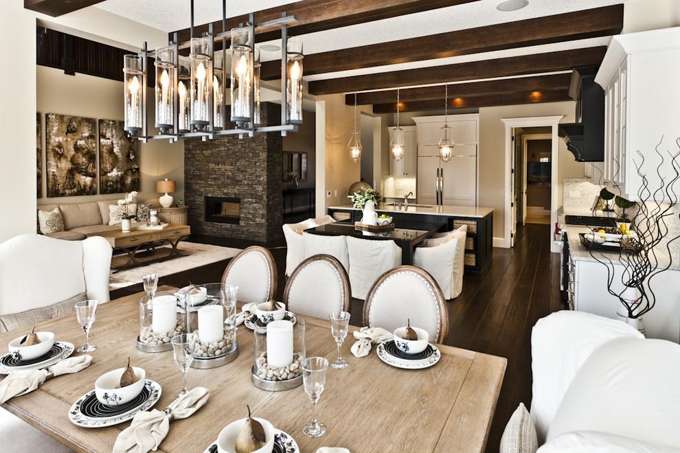 Mountain style great room photo in Edmonton