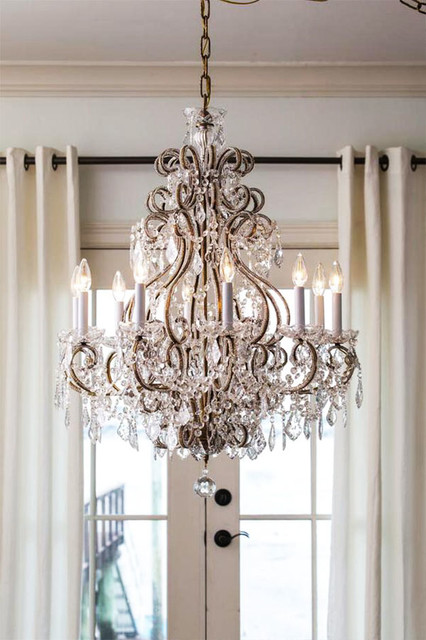 Louis xvi crystal chandelier traditional dining room other metro by inviting home inc - Dining room crystal chandelier ...