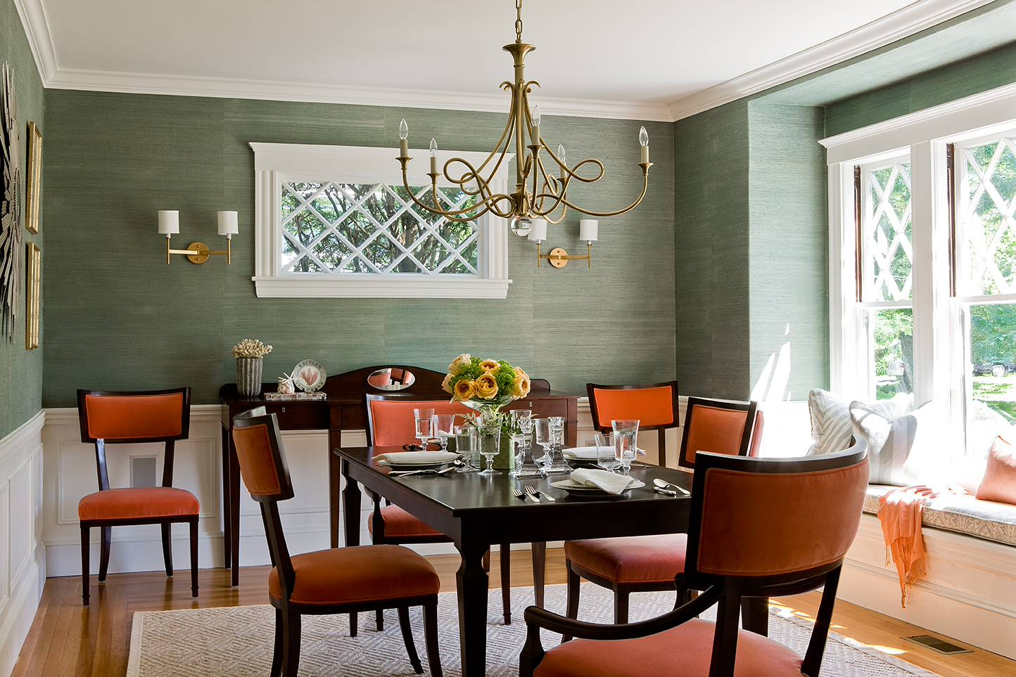 75 Beautiful Dining Room With Green Walls Pictures Ideas March 2021 Houzz