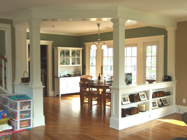 Low walls interior columns for Columns in houses interior