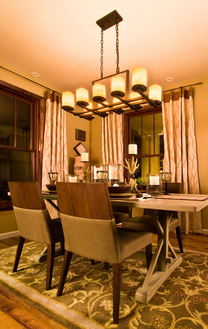 rectangle chandelier by maxim lighting transitional dining room
