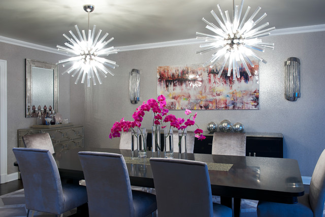 Modern Glam Modern Dining Room New York By Susan Glick Interiors