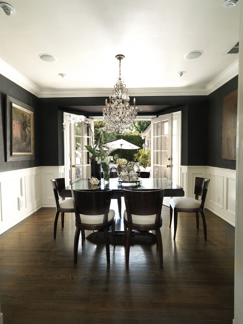 luxe west hollywood residence traditional dining room. Black Bedroom Furniture Sets. Home Design Ideas
