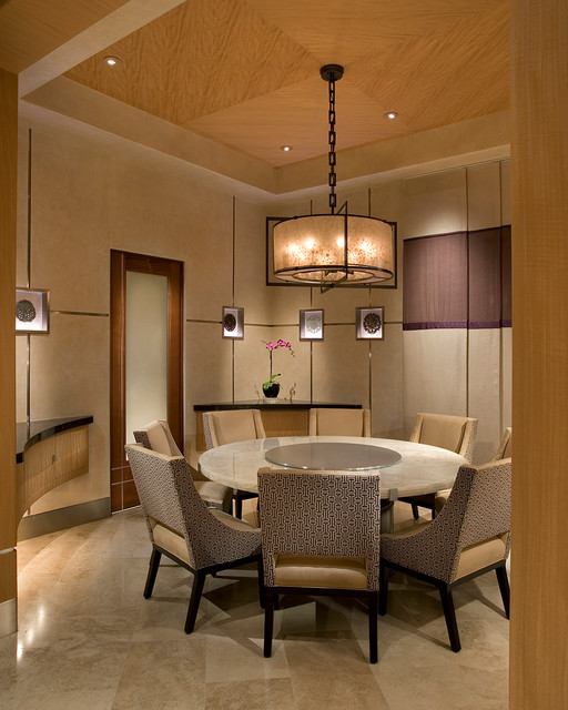 Luxurious Zen Resort - Paradise Valley - asian - dining room ...