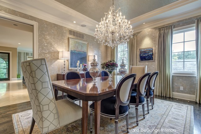 Luxury dining room transitional dining room for Luxury dining room design