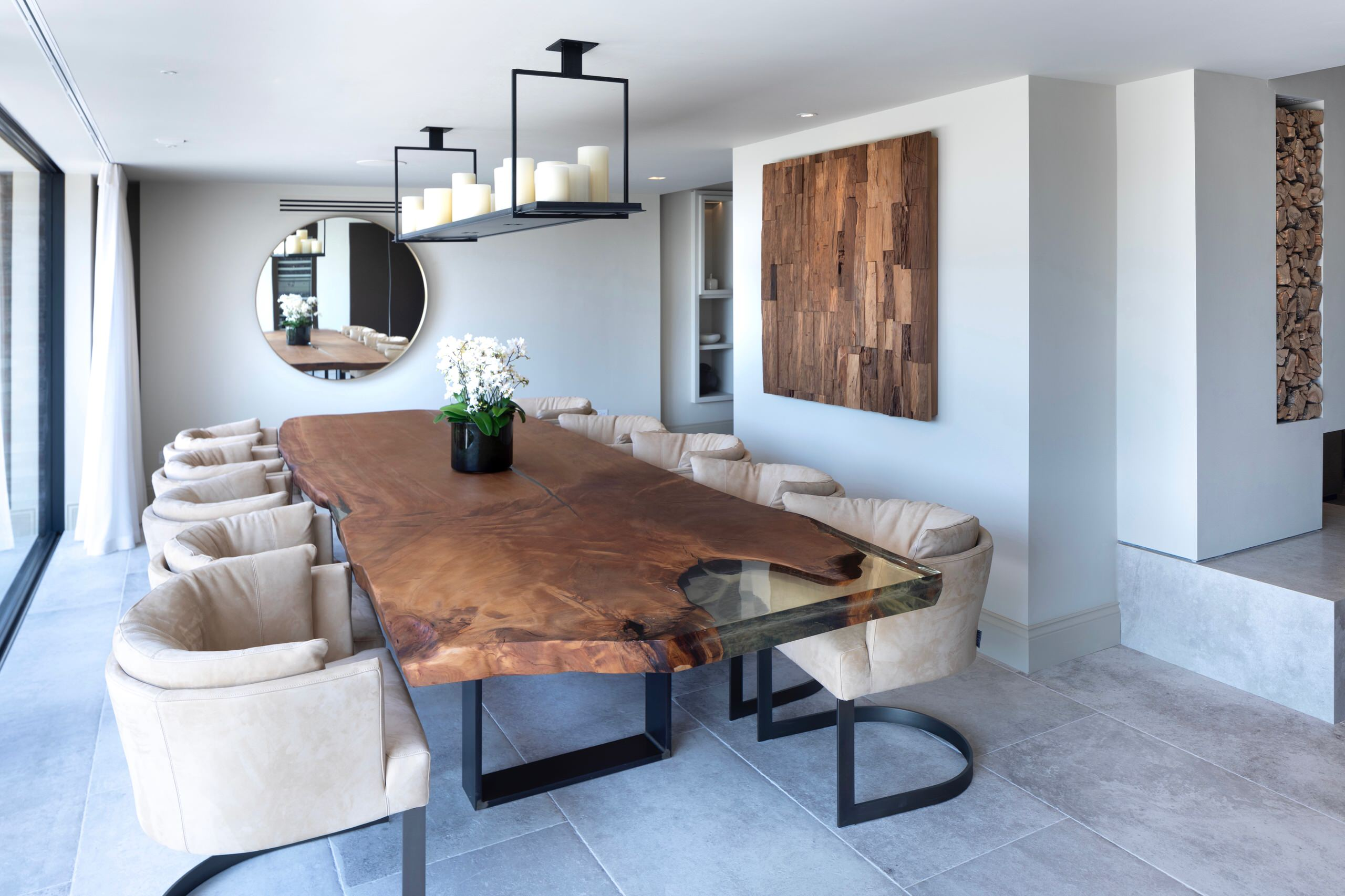 75 Beautiful Ceramic Tile Dining Room Pictures Ideas March 2021 Houzz