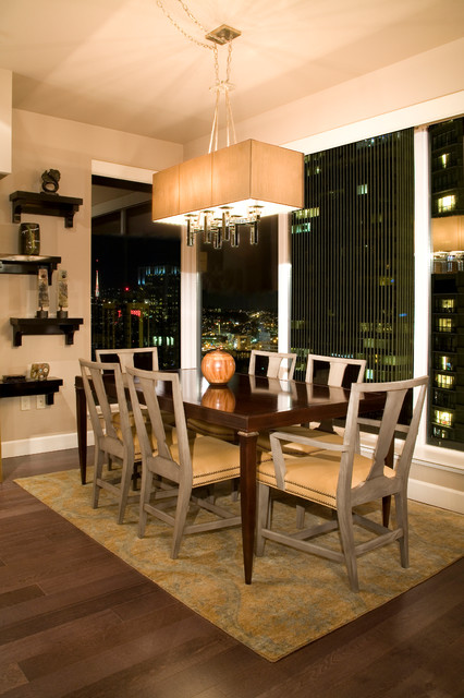 Luxury downtown Seattle condo contemporary-dining-room