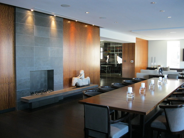 Luxury High Rise Residence Modern Dining Room
