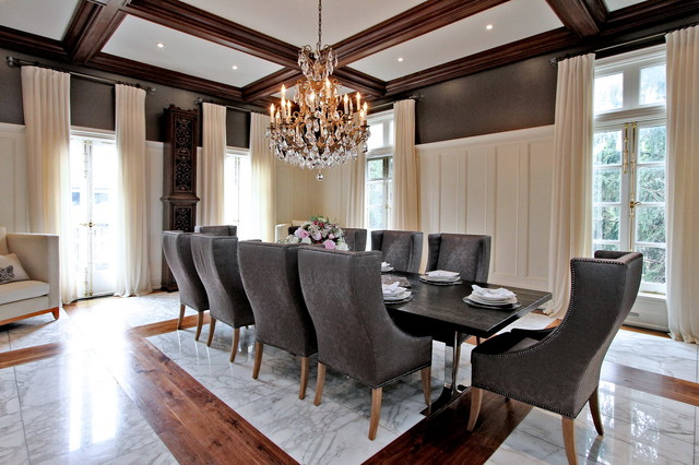 luxury home staging modern mansion traditional dining room