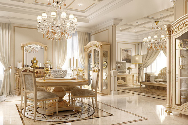 Luxury Italian Living By Gimo Traditional Dining Room New York By Exclusive Home Interiors