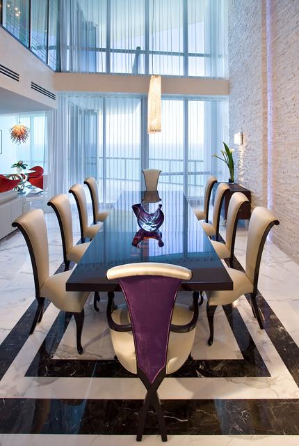 Luxury living at jade ocean ph contemporary dining for Jade ocean penthouse