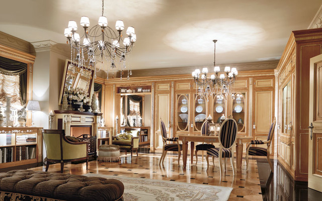 Luxury living space by martini mobili traditional for Luxury dining room