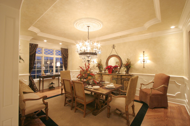 Luxury model home traditional dining room cincinnati for Model home dining room