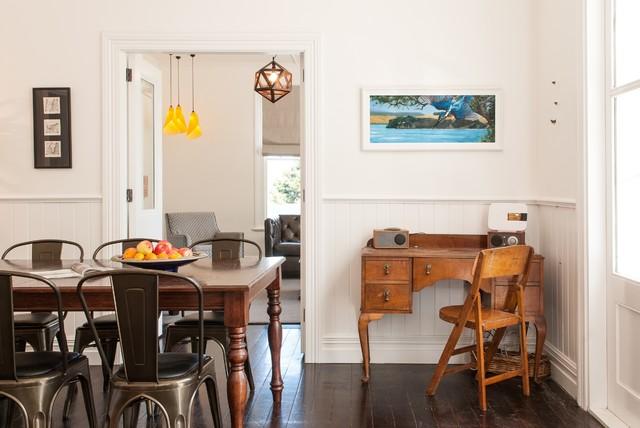 Lyttelton Villa Earthquake Repair & Extension transitional-dining-room