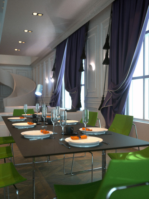 m-Chateau contemporary-dining-room