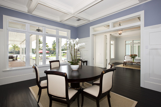 Mackle Construction tropical-dining-room
