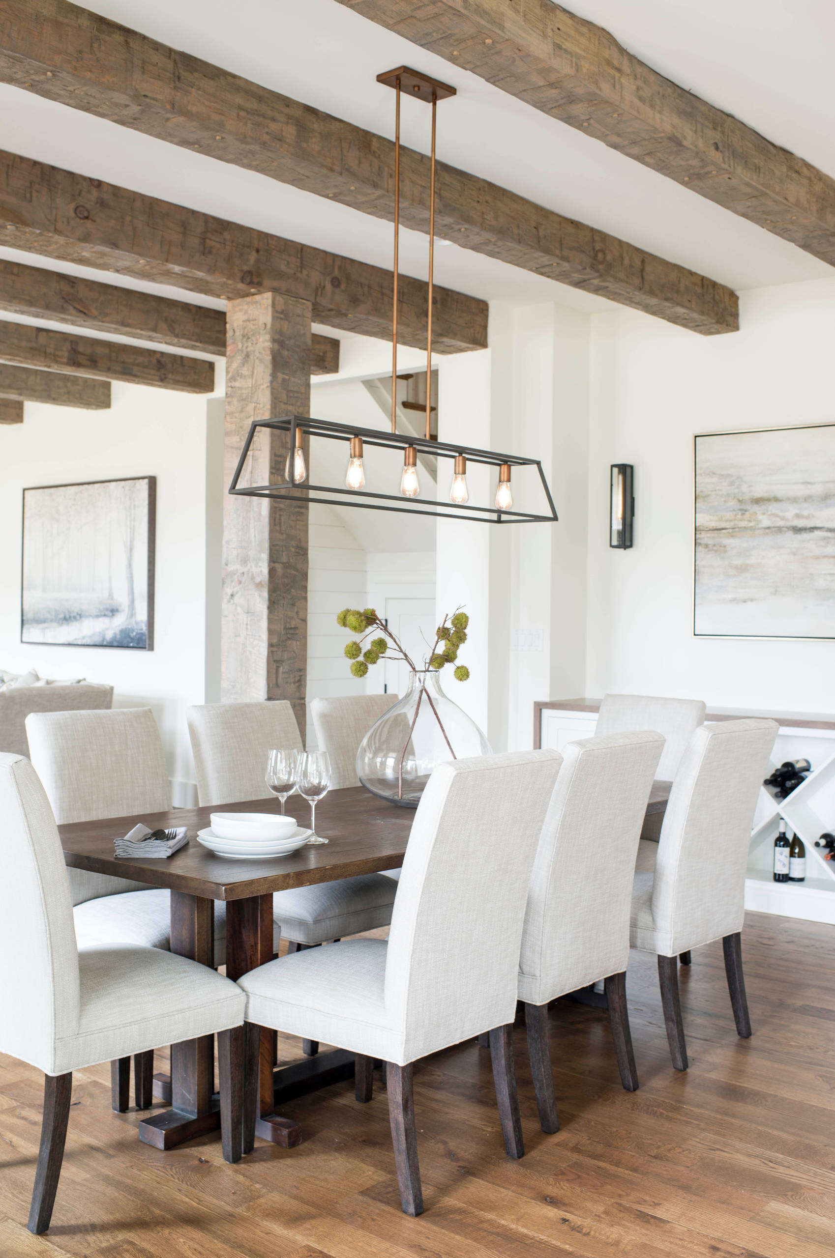75 Beautiful Farmhouse Dining Room Pictures Ideas December 2020 Houzz