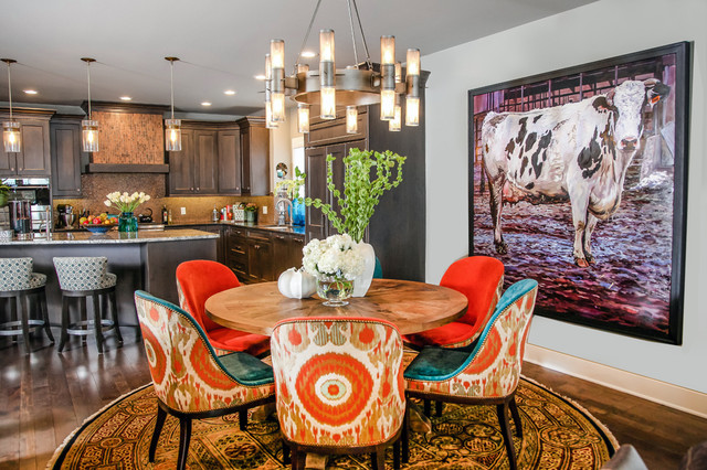 madison lakeside retreat eclectic dining room