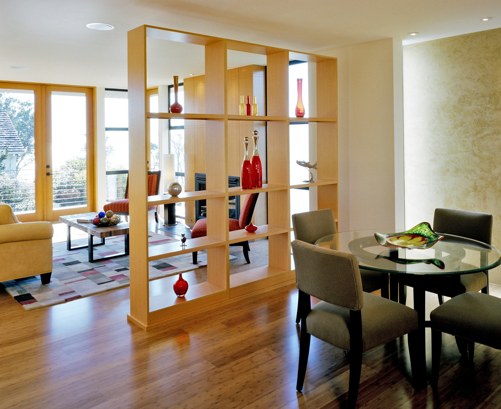 Example of a trendy dining room design in Seattle