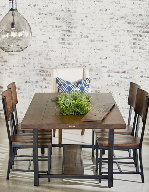 magnolia home framework dining table with planter - industrial