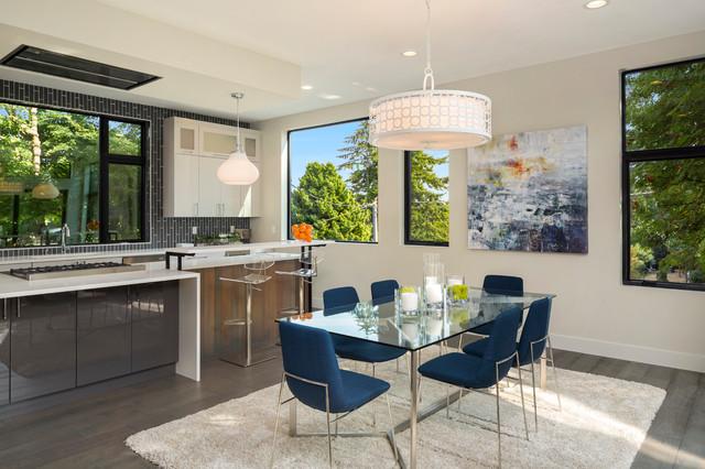 Magnolia Light Filled Contemporary Dining Room