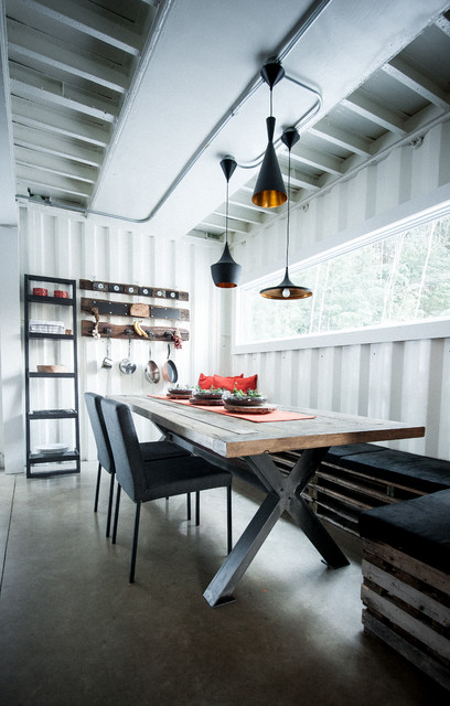Maison conteneur container house dining room other metro by les colle - Forum maison container ...