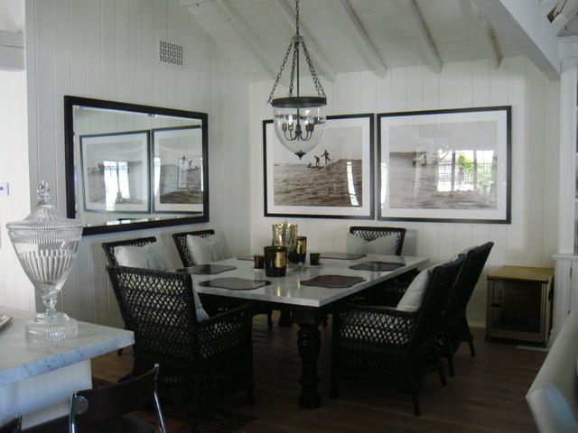 malibu beach eclectic-dining-room