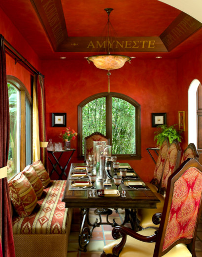 Tuscan dining room photo in Los Angeles