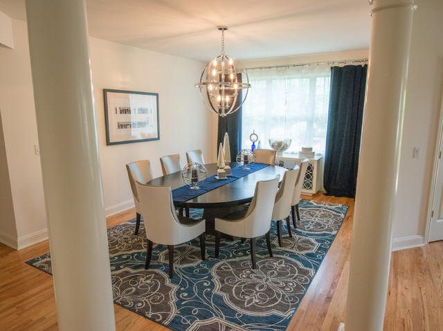 Manhasset ny townhouse transitional dining room new for Dining room ideas for townhouse