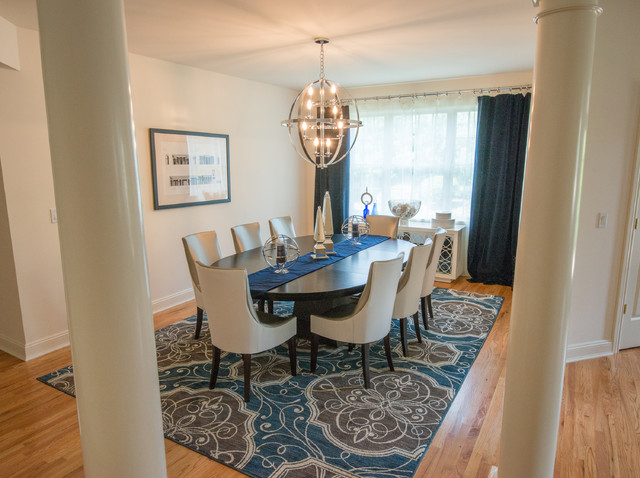 Manhasset ny townhouse transitional dining room new for Dining room design questions